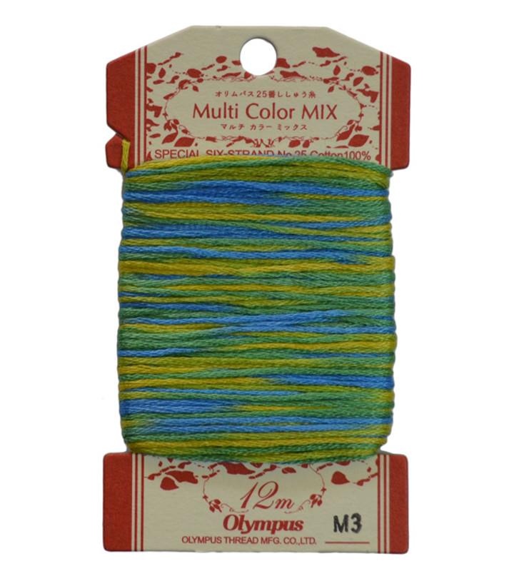 Embroidery Thread Multi-Coloured  12mt ET-M3