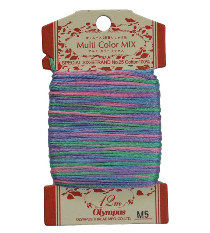 Embroidery Thread Multi-Coloured  12mt ET-M5