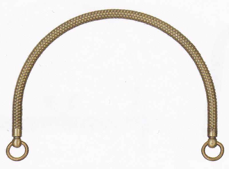 Purse Handles Antique Gold BK-1177