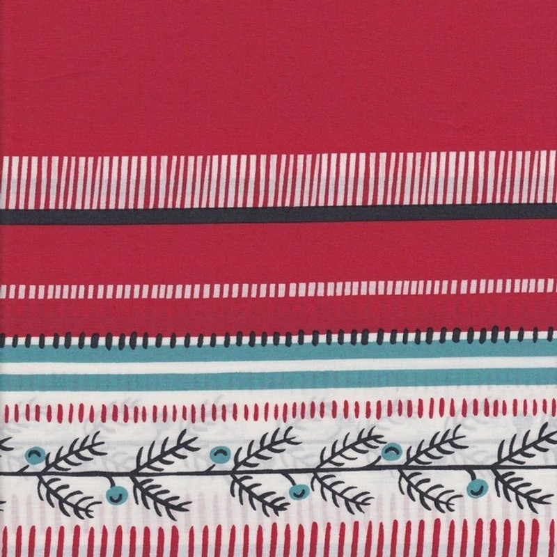 Printed Cotton Fabric Red FCR-0375