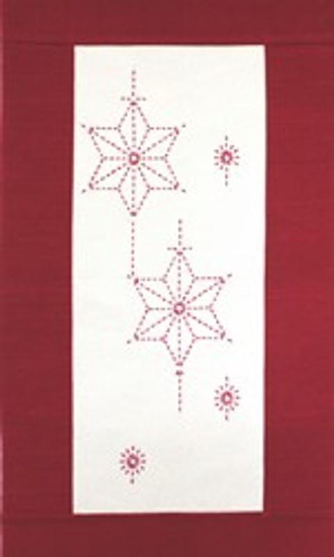 Sashiko Christmas Star Wall Hanging Kit CWH-1