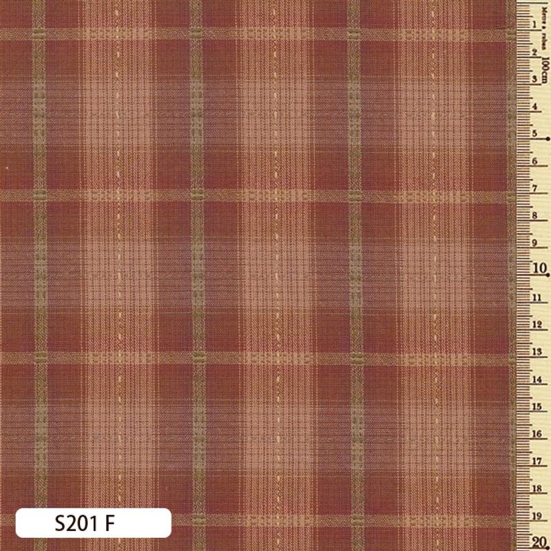 Sakizome Momen Fabric Seed Check F S201F
