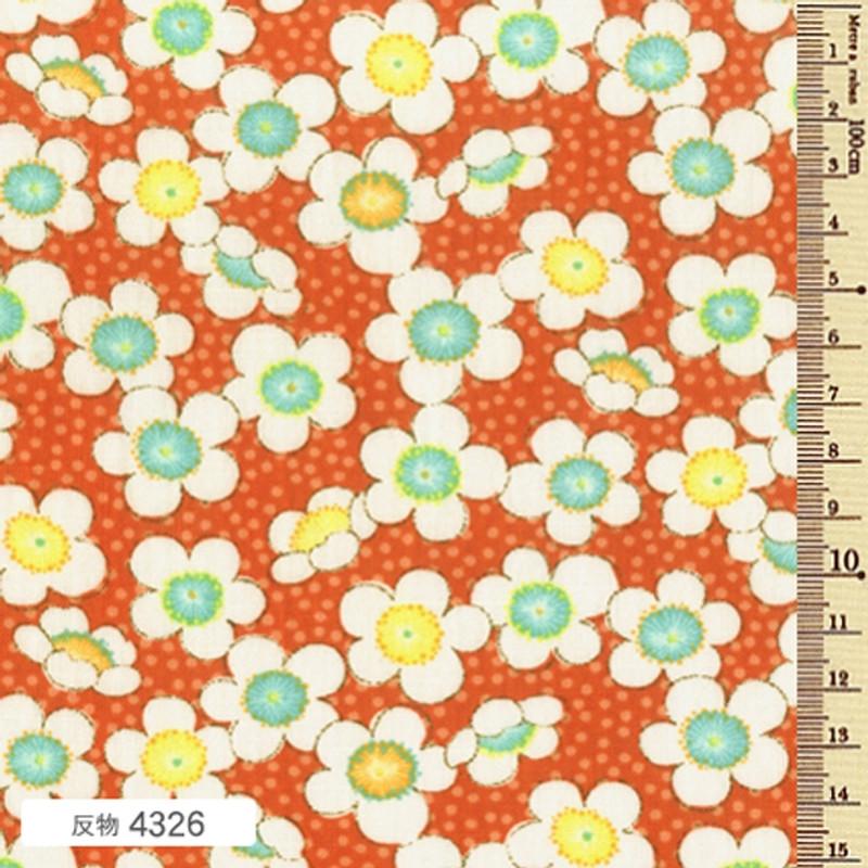 Printed Cotton Fabric Soleil Fall Blossom Orange F-4326