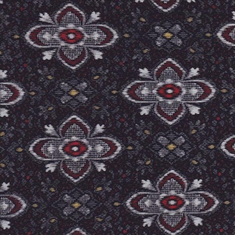 Yukata Printed Cotton Fabric Multi-Coloured TS-0494