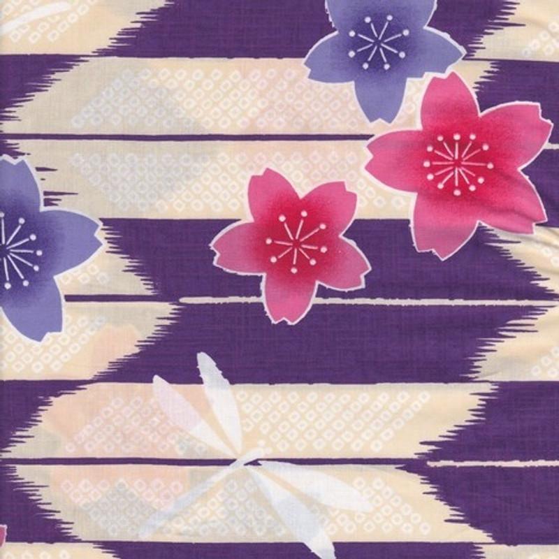 Yukata Printed Cotton Fabric Multi-Coloured TY-0527