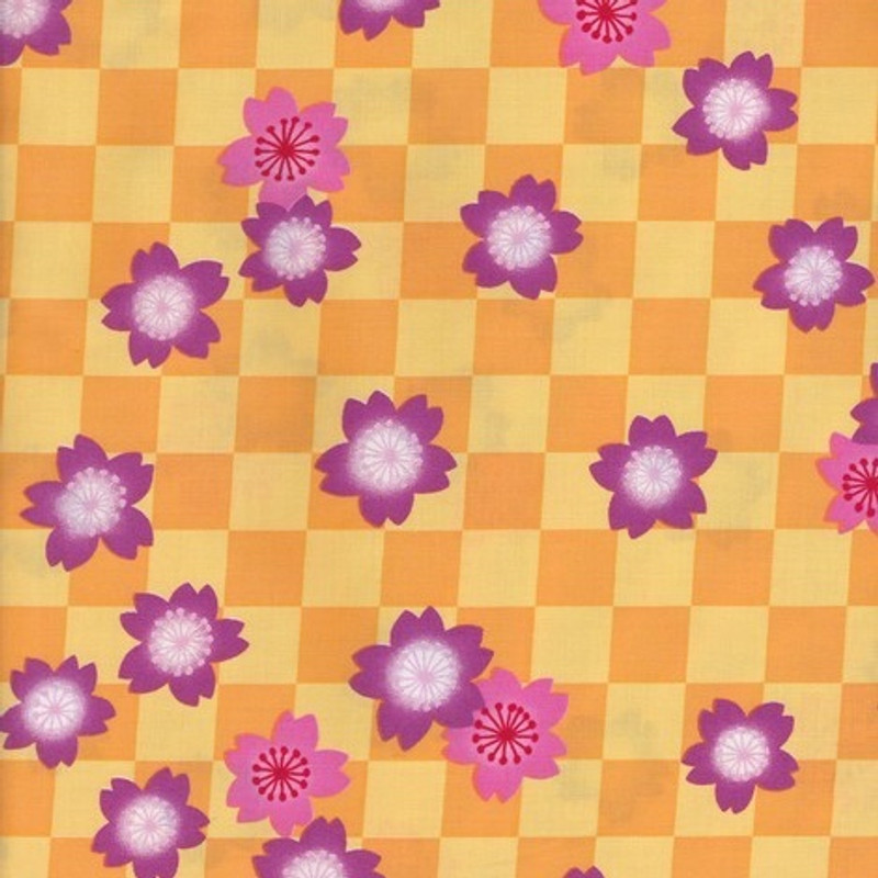 Yukata Printed Cotton Fabric Multi-Coloured TY-0539