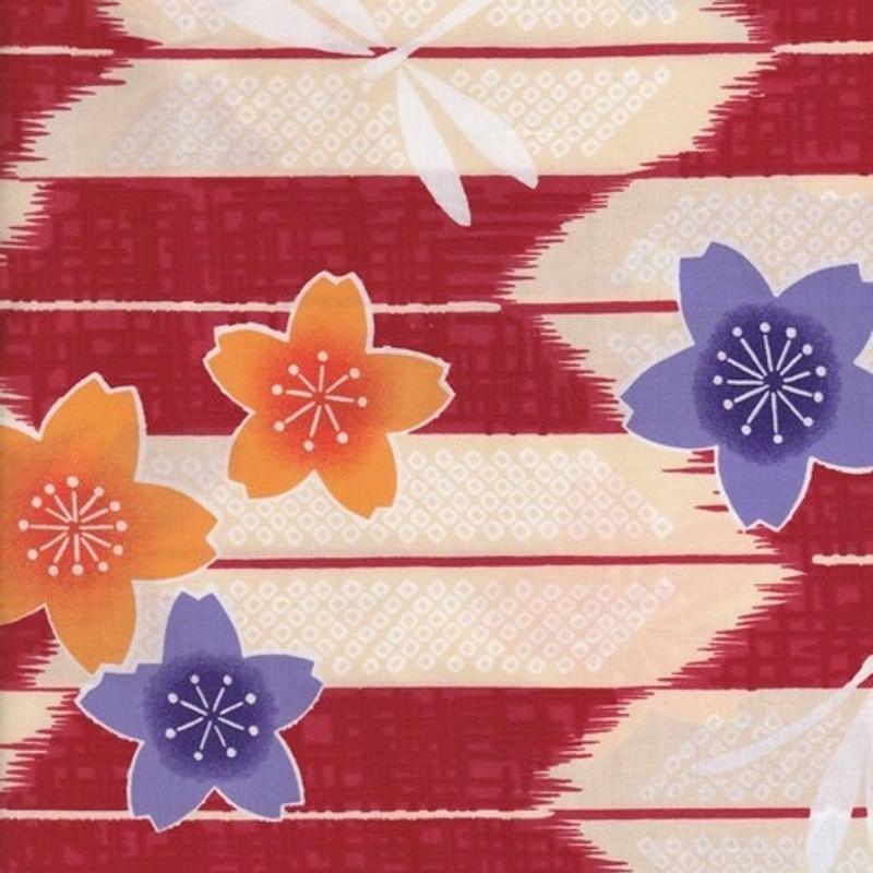 Yukata Printed Cotton Fabric Multi-Coloured TY-0545