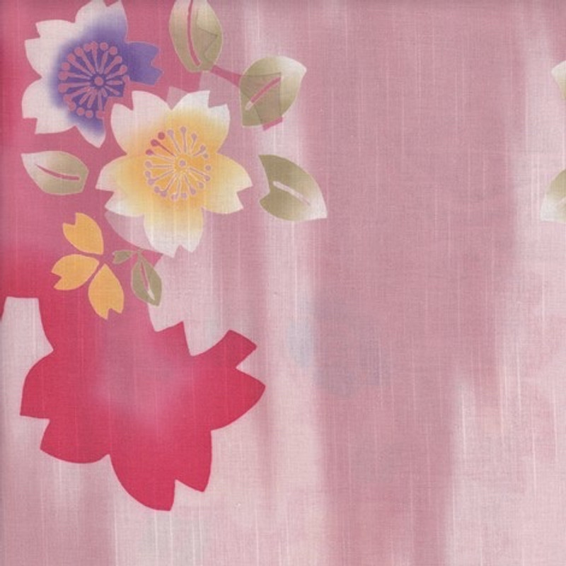 Yukata Printed Cotton Fabric Multi-Coloured TY-0547