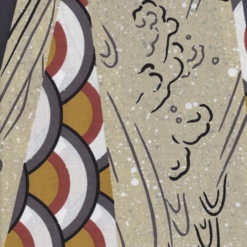 Yukata Printed Cotton Fabric Multi-Coloured TY-0553