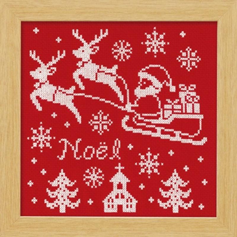 Red Reindeer Christmas Cross-stitch X-104