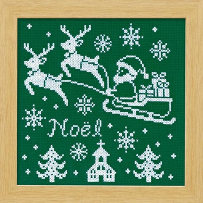 Reindeer Christmas Cross-stitch X-105
