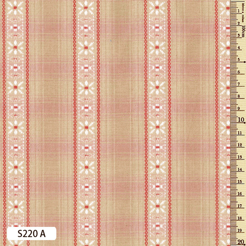 Sakizome Momen Fabric  Floral March S220A