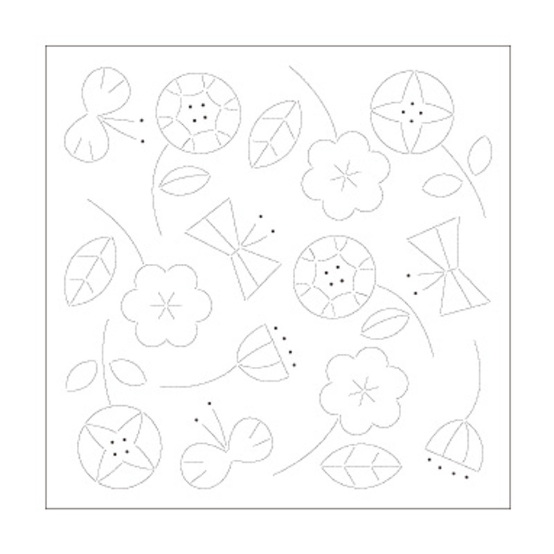 Sashiko Sampler Sashiko Sampler Happy Flowers & Butterflies SS-H-1028