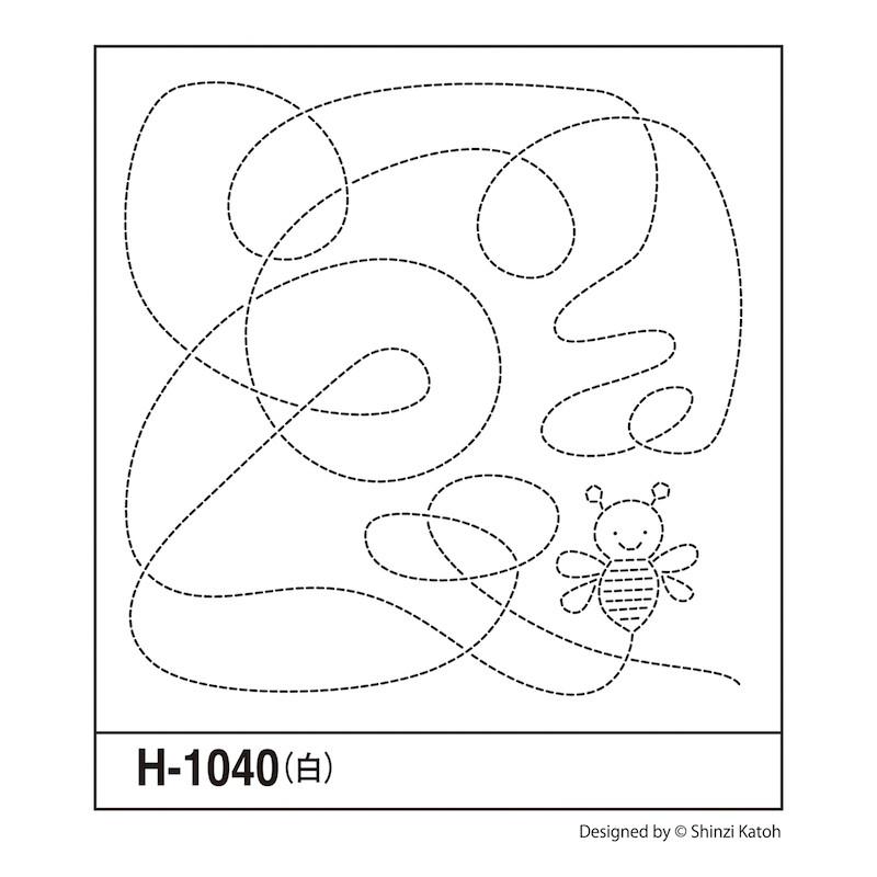 Sashiko Sampler Shinzi Katoh Bee  H-1040