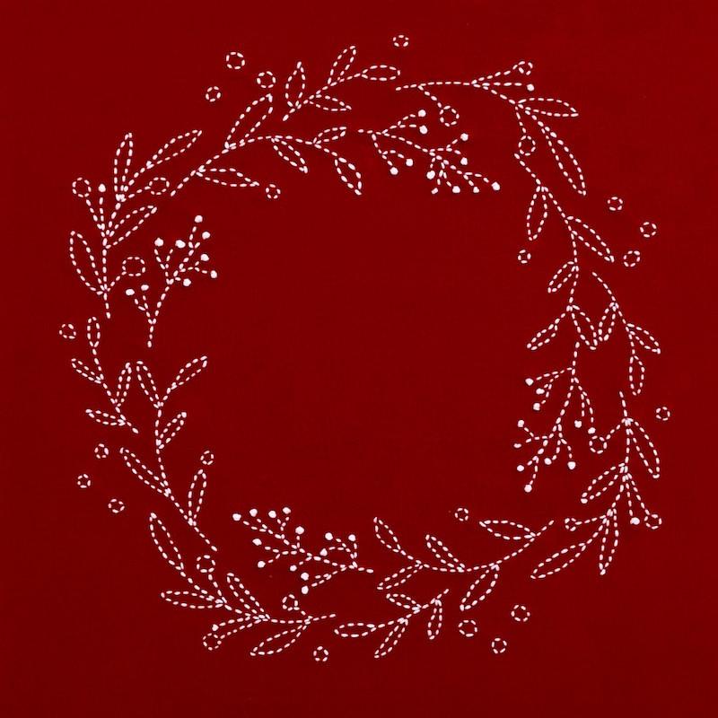 Sashiko Christmas Wreath Traditional Red Kit SKCWR-2017