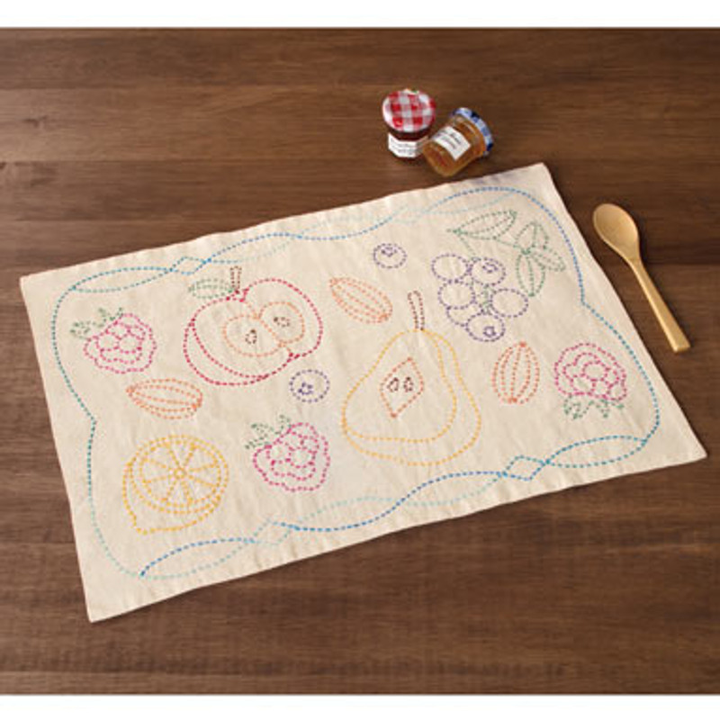 Olympus Sashiko Kit  Fruit Placemat SK-344