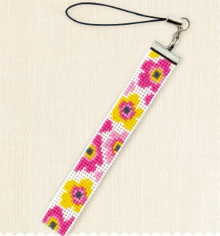 Cross Stitch Kit long Strap Flowers KST-25
