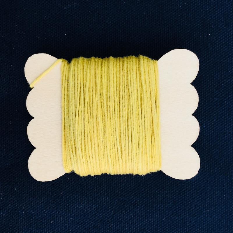 Sun Dyed Sashiko Thread  20m Bright Yellow STBW-01