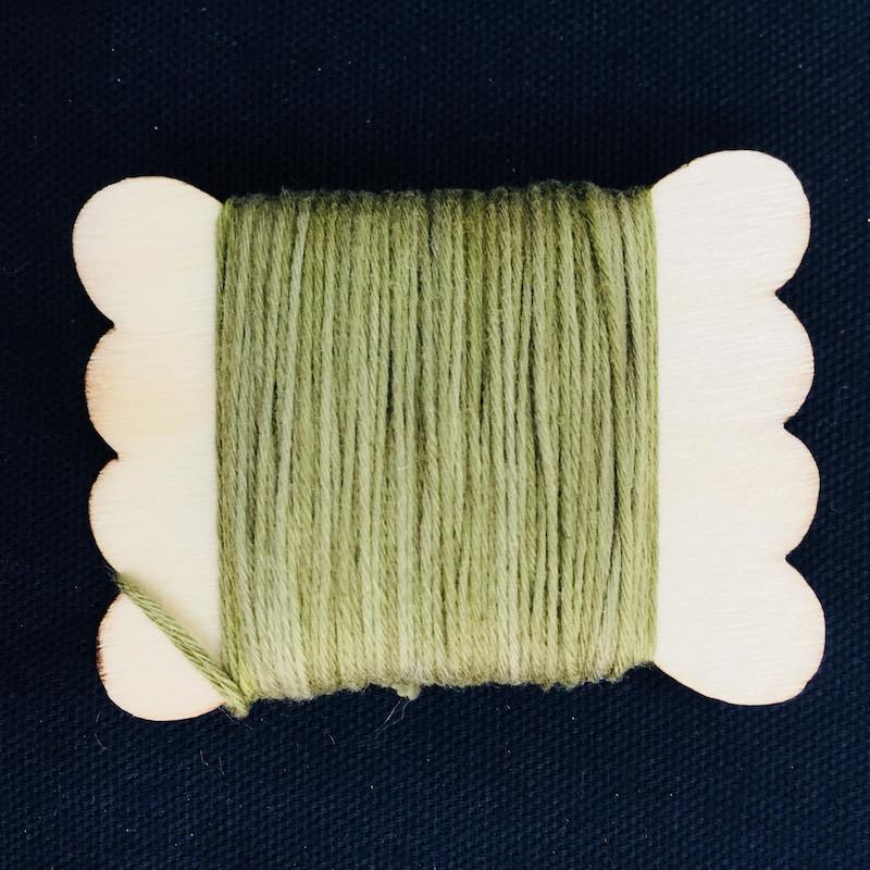 Sun Dyed Sashiko Thread  20m Herb Green STBW-02