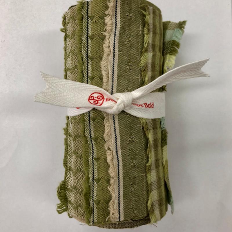Yarn-Dyed Fabric Bundle Green  YDFB-G