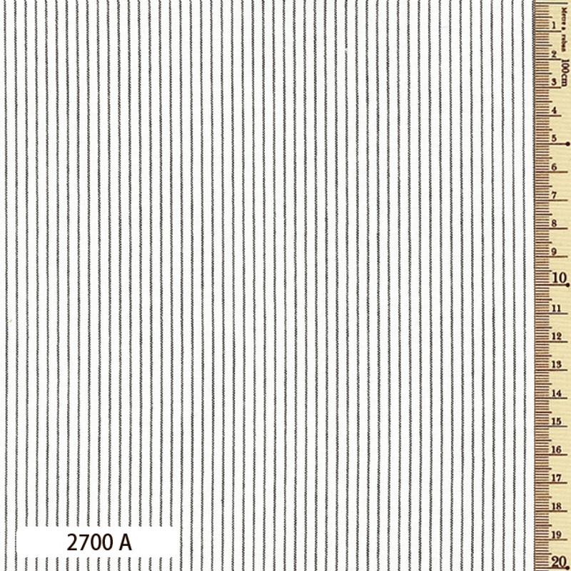 Woven Striped Cotton Thin White 2700A