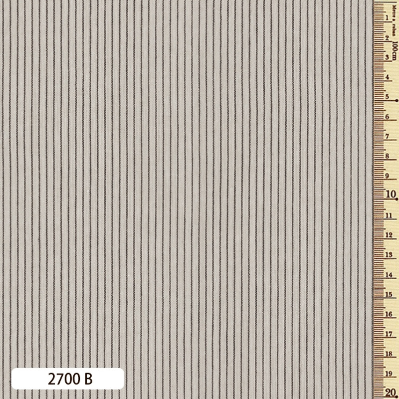 Woven Striped Cotton Thin Ecru 2700B
