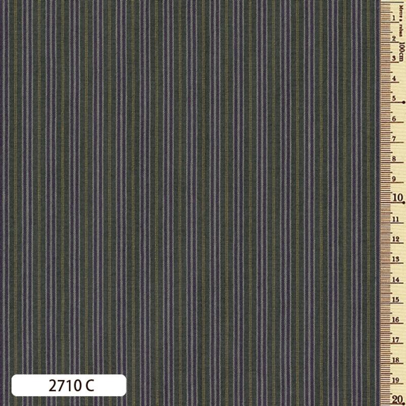Woven Striped Cotton Thin Green 2710C