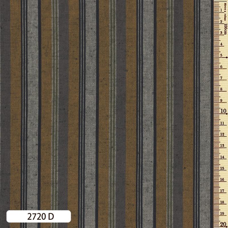 Woven Striped Cotton Thick Multi Mustard/Dark Grey 2720D
