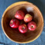 Largesse round bowl wild olive wood handmade in Kenya