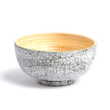 Largesse mini bamboo bowl eggshell finish made in Vietnam