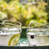 Round wine or whiskey tumbler made from 100% recycled glass in Eswatini