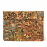 Natural paper laptop sleeve with safari design made in South Africa