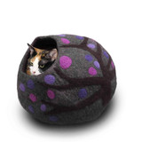 Kitty cave purple made in Nepal from 100%  wool