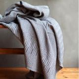 Bakuba 100% cotton throw charcoal woven in South Africa