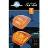 36 LED Square Cab Light - Amber LED/Clear Lens - 5/Pack