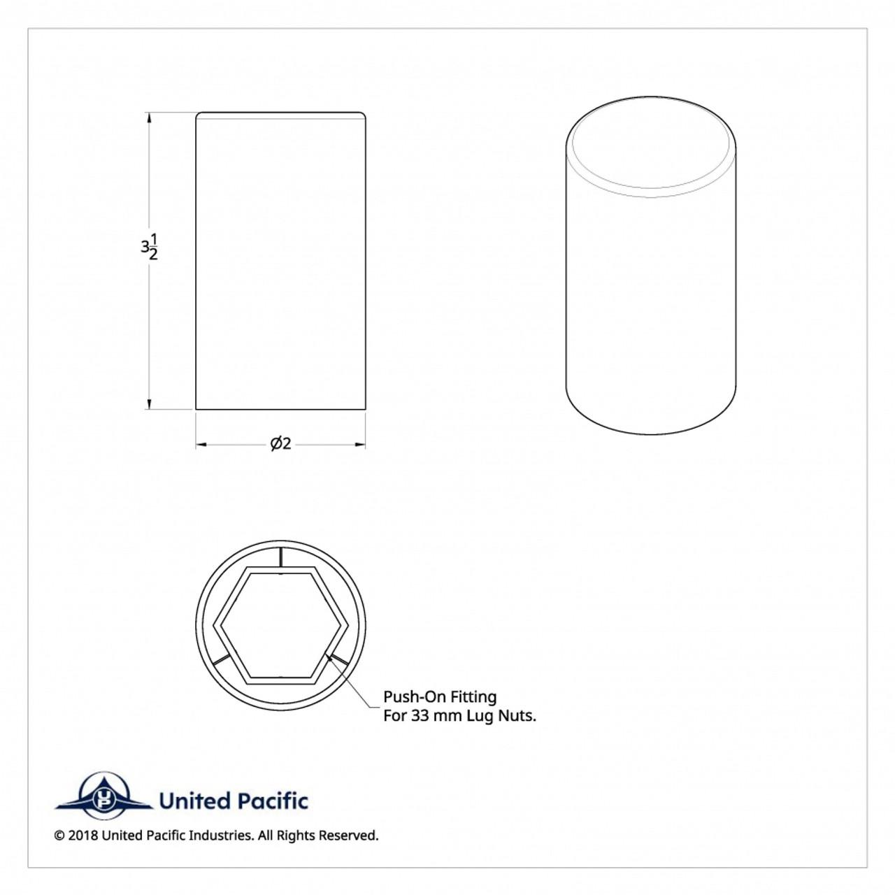 33 mm Wheel Lugnut Chrome Plastic 33mm Thread On Standard Nut Covers Caps 10