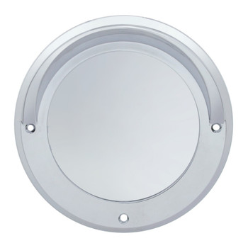"Chrome Plastic 4"" Mirror Bezel"
