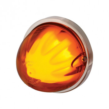 "9 Led Dual Function ""Glo"" Watermelon Light - Flush Mount - Amber Led"