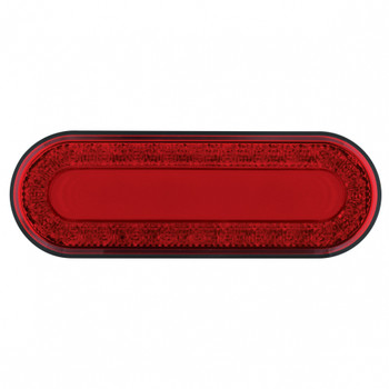 """24 LED Oval """"MIRAGE"""" Stop, Turn & Tail Light - Red LED"""