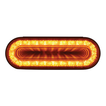 "24 LED Oval ""MIRAGE"" Turn Signal Light - Amber LED/Amber Lens"