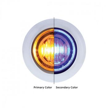 "3 LED 3/4"" ""DOUBLE FURY"" Dual Color Mini Clearance/Marker Light - Amber LED/Blue LED"