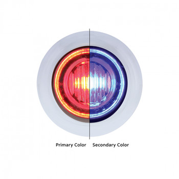 "3 LED 3/4"" ""DOUBLE FURY"" Dual Color Mini Clearance/Marker Light - Red LED/Blue LED"