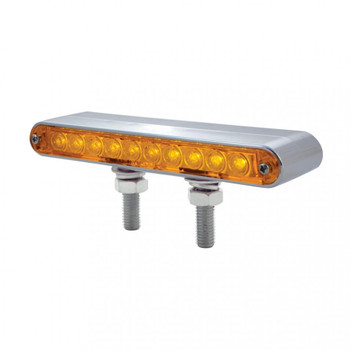 "Amber/Red Chrome 6 1/2"" Double Face Light Bar"