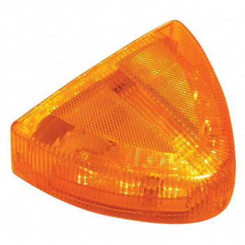 30 Led Peterbilt Front Turn Signal Light - Low Profile, Amber/Amber Lens