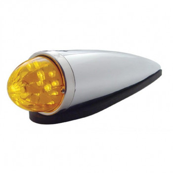 Chrome 17 Amber Led Round Watermelon Cab Light Kit - Amber Lens