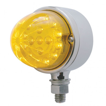 17 LED Dual Function Reflector Single Face Light - Amber LED