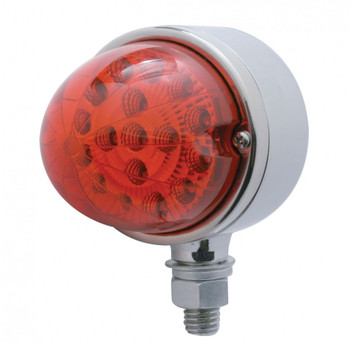 17 LED Dual Function Reflector Single Face Light - Red LED