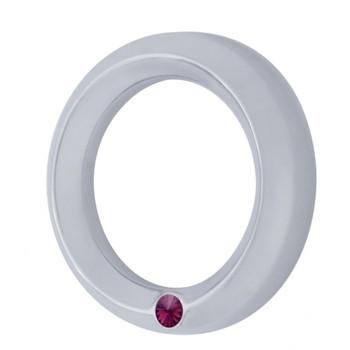 Chrome 2006+ Peterbilt Small Gauge Cover W/ Diamond - Purple