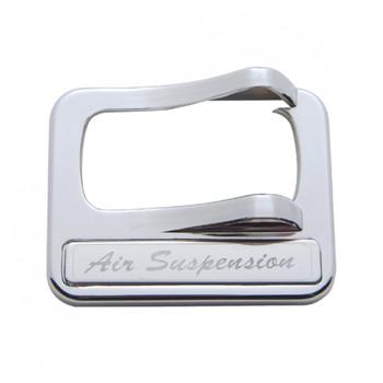 "Chrome Plastic Peterbilt Rocker Switch Cover - ""Air Suspension"" Stainless Steel Plaque"