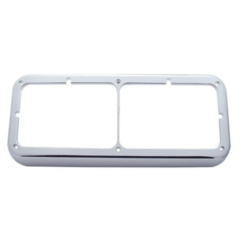 Chrome Dual Headlight Rectangular Bezel